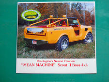 "IHC SCOUT Pennington's "" MEAN MACHINE "" vintage PROMO MAN CAVE show motorama"