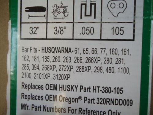 """32/"""" Bar /& Skip Chain 3//8/"""" Fits Husqvarna 372xp 385xp 394 576 572 395xp Chainsaw"""