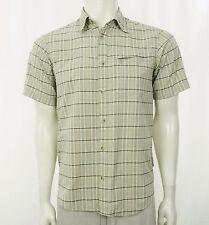 Columbia Vented Fishing Safari Beige Button Shirt Mens Medium
