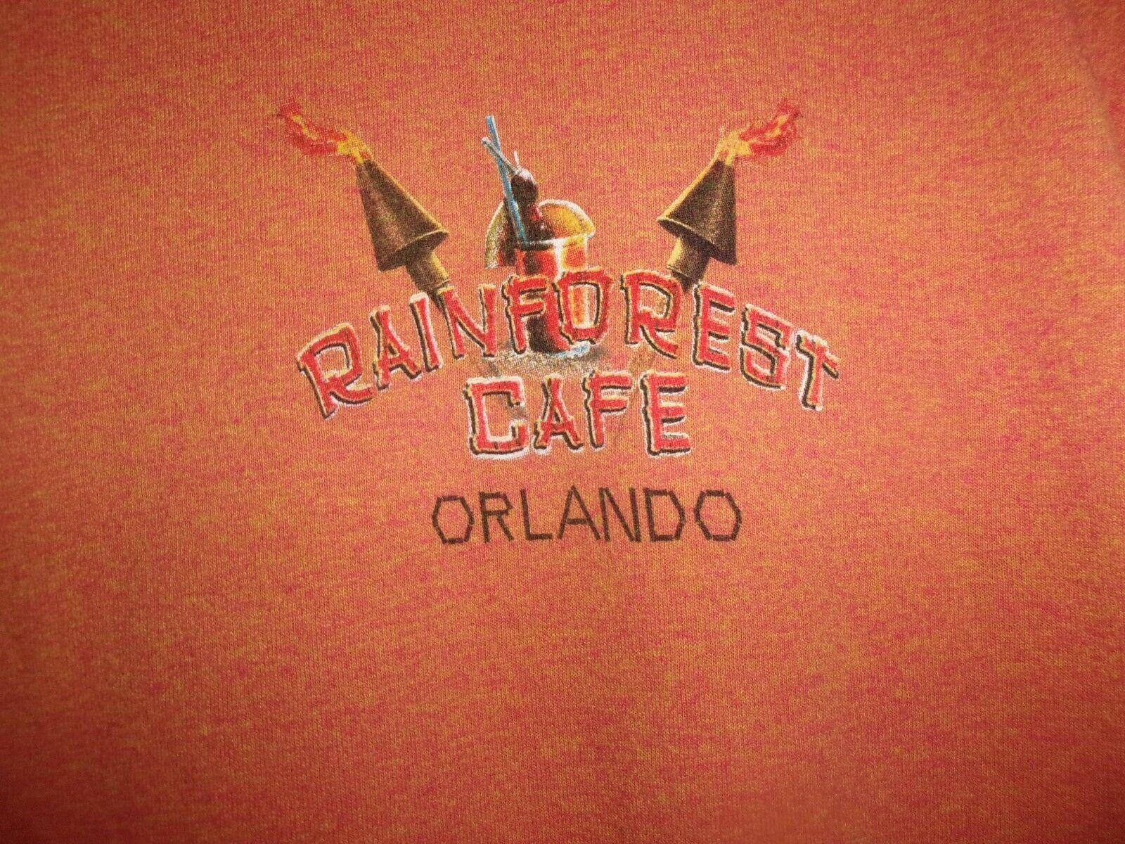 Orlando FL RAINFOREST CAFE orange L t shirt I Was… - image 1