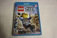 LEGO City Undercover (Nintendo Wii U, 2013) *First print, like new*