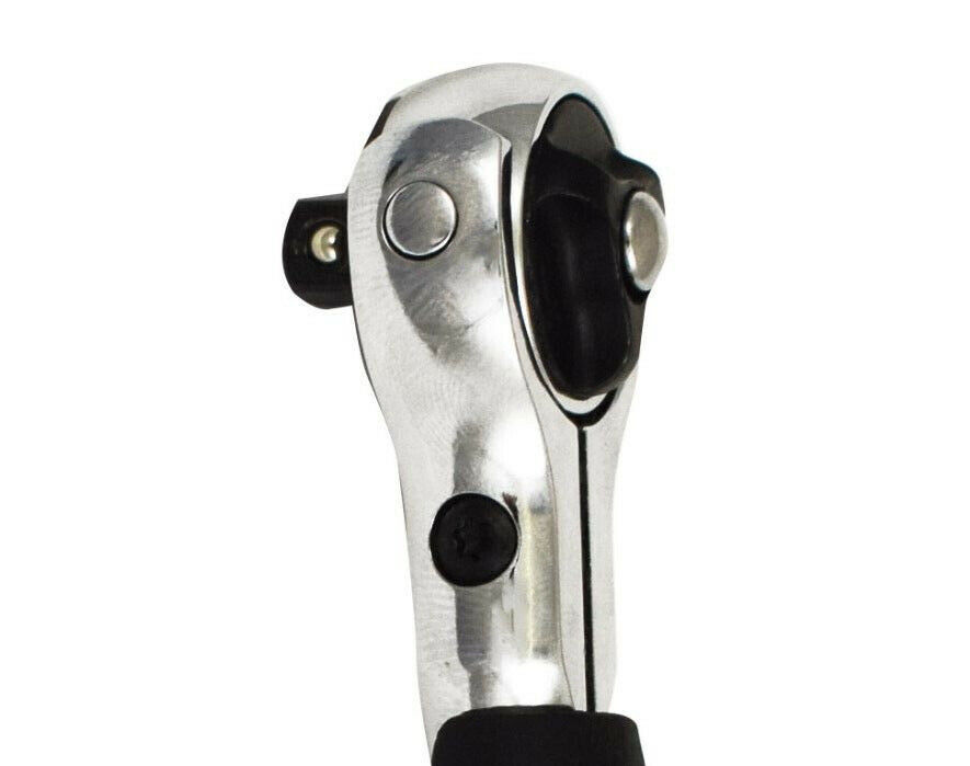 Trident 3//8in Drive 72 Tooth Swivel Head Reversible T-Handle Ratchet T122128
