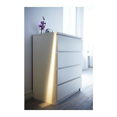 Charmant IKEA Malm 4 Drawer Chest Of Drawers White | EBay