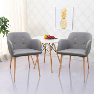 Marvelous Image Is Loading 2x Dining Chairs Retro Seat Fabric Set Wood