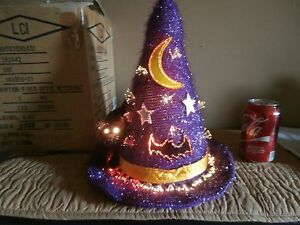 Halloween Fiber Optic Witch Hat With Black Cat & Orig. Box Kids Of America