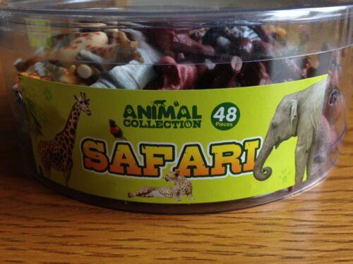 Baignoire de 48 jouet en plastique Safari Animaux-Idéal Pour Fête Sacs-Neuf