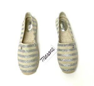 W-MK-Michael-Kors-Kendrick-Slip-On-Sneaker-Loafer-Canvas-Nat-Silver-Glitter