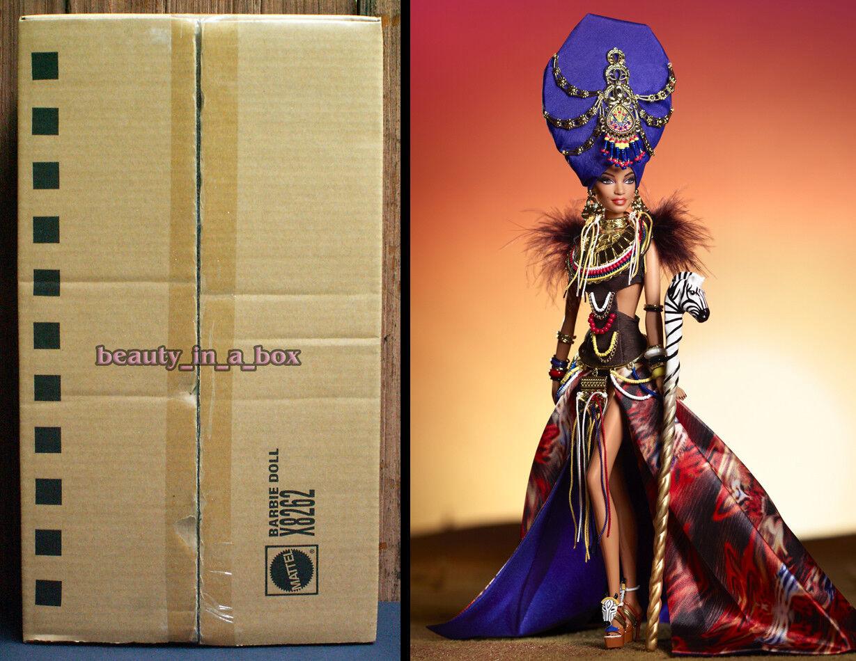 Muñeca Barbie Collector tribal belleza Mattel embarcador oro Label 2013 Linda Kyaw