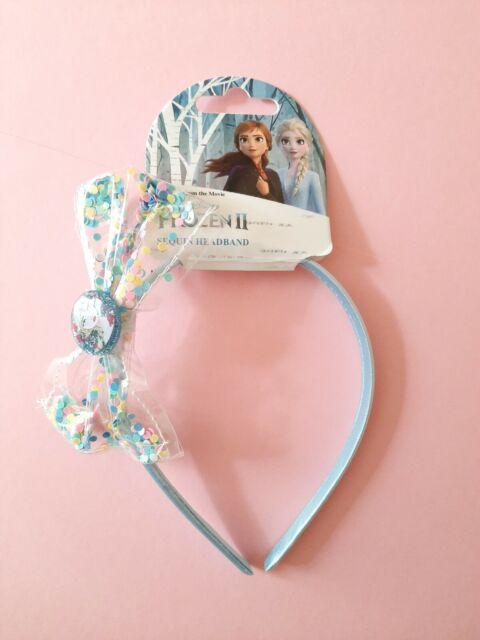 Frozen Headband With Bow Blue//pink//glitter