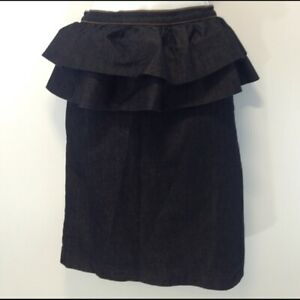 Sz-12-Bisou-Bisou-Attached-Dual-Peplum-Dark-Denim-Skirt