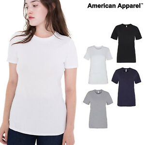 American-Apparel-Women-039-s-classic-tee-23215-Ladies-Plain-fine-Jersey-T-Shirt