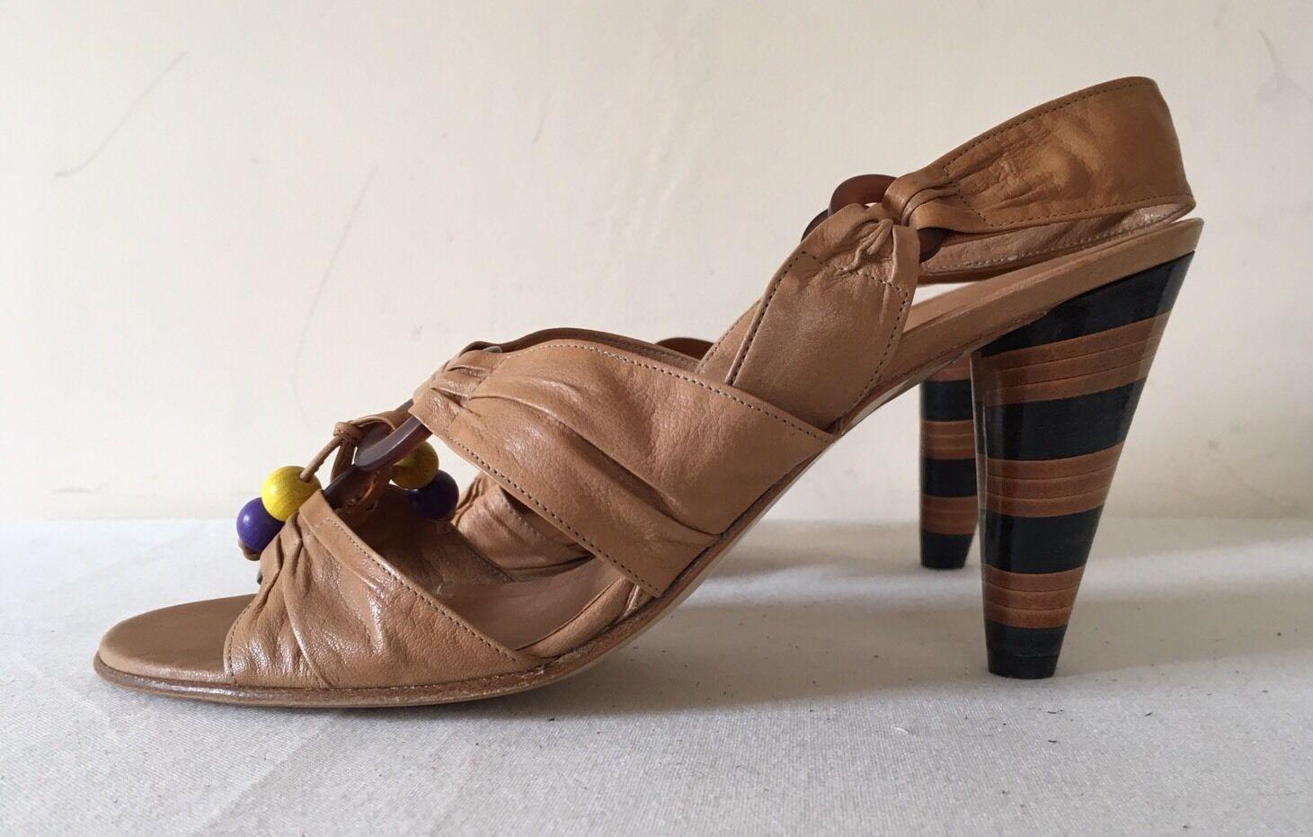 Summer Heels - Georgina Goodman Topaz - BNIB - EU 38.5 - MUST GO