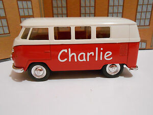 PERSONALISED-NAME-BOYS-TOY-GIFT-VW-CREW-BUS-CAMPER-VAN-Model-Toy-Car-NEW-amp-BOXED
