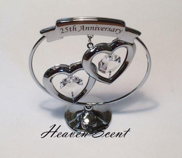 25th Silver Wedding Anniversary Gift Ideas With Swarovski Crystals