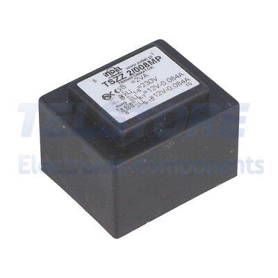 1pcs  Trasformatore incapsulato 2,5VA 230VAC 7,5V 7,5V IP00 100g TELSTORE