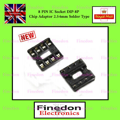 50Pcs Round Hole 8Pin Pitch 2.54MM Dip Socket Adaptor US Stock i