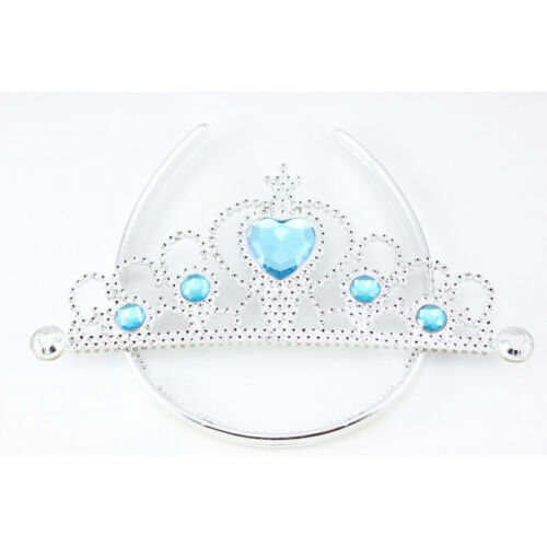 Girl Frozen Anna Elsa Tiara Crown Wig Magic Wand Gloves Hair Accessories Costume
