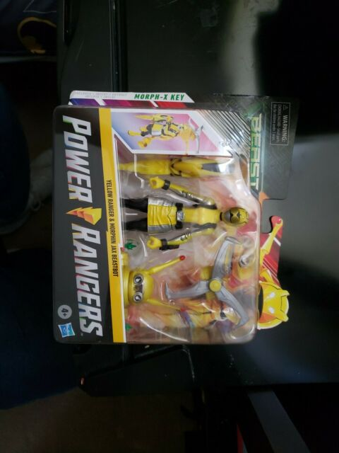 Power Rangers: Beast Morphers - Yellow Ranger Figure & Morphin Jax Beastbot Set