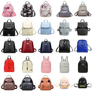Women-Backpack-Leather-Handbag-Shoulder-Bag-Rucksack-Purse-Satchel-Schoolbag-Lot