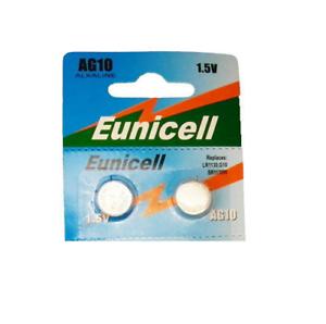 2-x-EUNICELL-AG10-LR1130-SR1130-W-G10-LR54-Alcaline-Bouton-Cellule-Montre-Piles