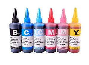 6-x-100ml-Quality-Printer-Refill-Ink-For-Epson-Brother-HP-Bottles-kit