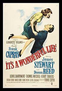 It/'s a Wonderful Life 1946 Retro Movie Poster A0-A1-A2-A3-A4-A5-A6-MAXI 232