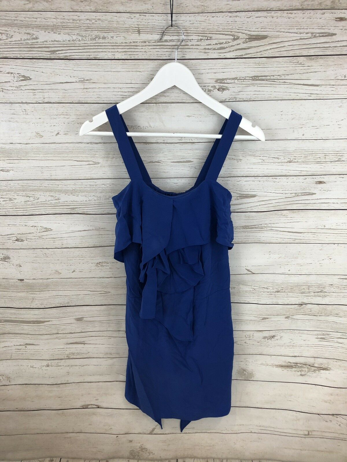 COAST SILK PARTY Dress - Size UK8 - bluee - Great Condition - Women's