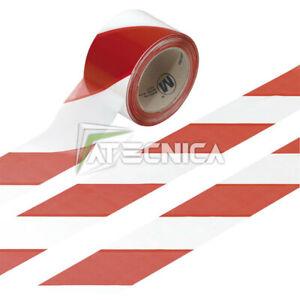 Nastro segnaletico rosso e bianco 200mt altezza 70mm nastro per delimitazioni
