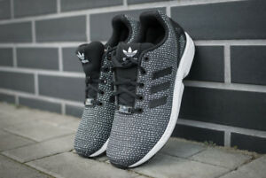 By9828 Schwarz Adidas Sneakers Flux Damen Black Turnschuhe J Sport Neu Zx White zqaaI