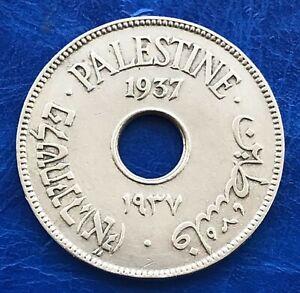 Israel-Palestine-British-Mandate-10-Mils-1937-Coin-XF