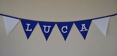 CHELSEA PERSONALISED FOOTBALL BUNTING GIFT £2 PER LETTER