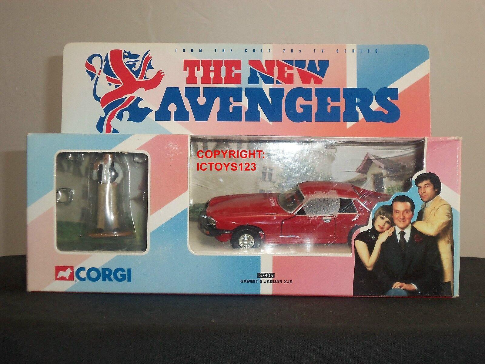 Corgi 57405 Nuevos Vengadores gambits Rojo Jaguar XJS Diecast Modelo Coche + Figura De Metal