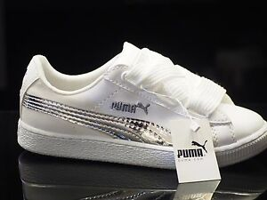 puma suede heart white