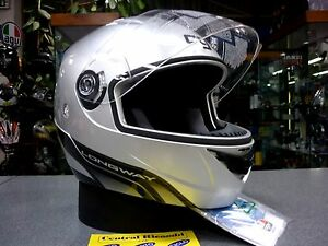 CASCO-MODULARE-AGV-LONGWAY-SILVER-XS-MOTORCYCLE-HELMET-HELM-CASQUE