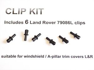 6-NEW-A-PILLAR-TRIM-CLIPS-1999-to-2004-Land-Rover-Discovery-Windshield-79086L