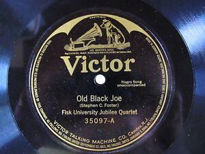 FISK-UNIV-JUBILEE-QUARTET-78-Old-Black-Joe-REV-J-A-MYERS-When-Malindy-Sings