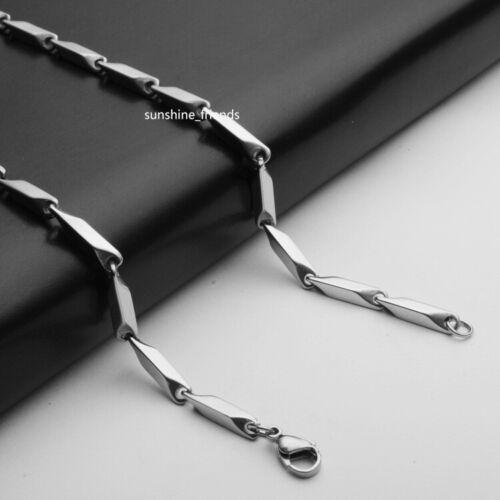 3 mm Rhombuskette Massiv Edelstahl Damen Herren Halskette 45-110 cm 2