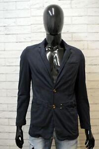 VERSACE-JEANS-Uomo-Taglia-S-Giacca-Blu-Elegante-Cappotto-Blazer-Elastica-Jacket