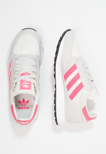 BRAND NEW IN BOX - ADIDAS FOREST GROVE TRAINERS - CHALK WHITE PINK - SIZE 4.5