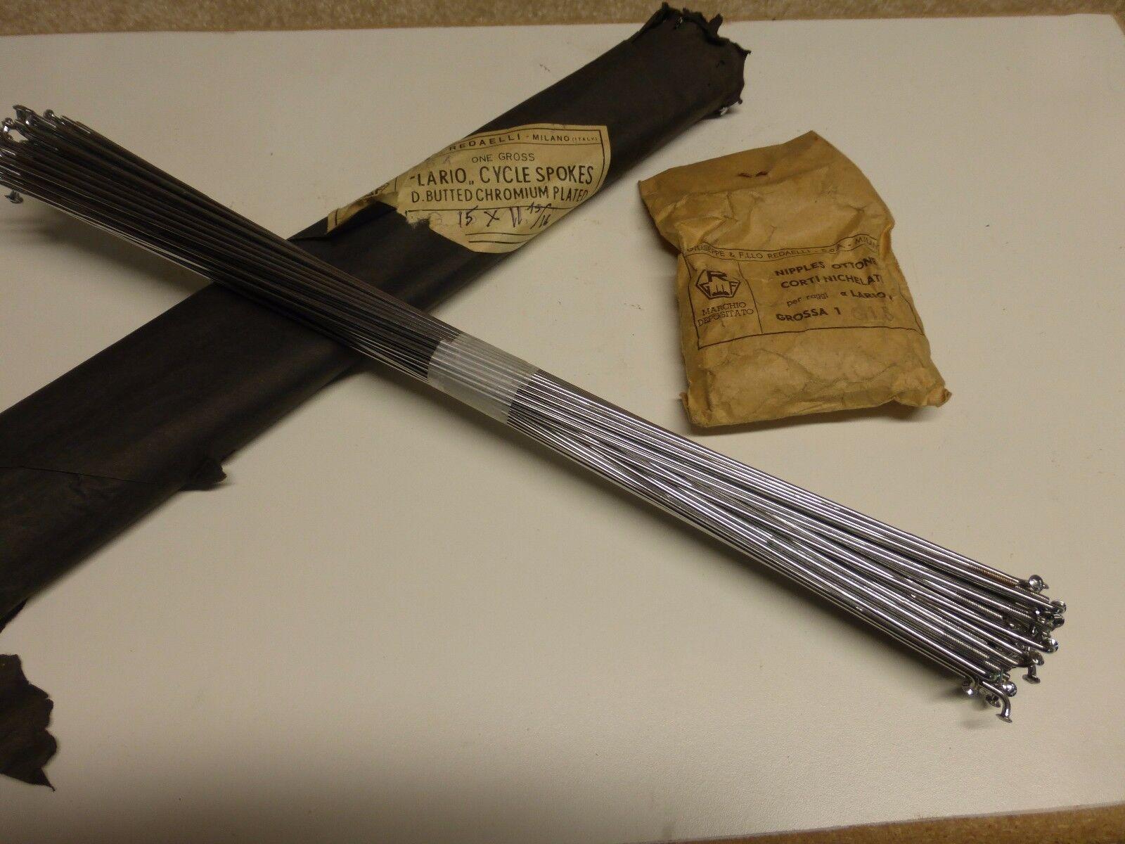 Vintage 70's -  Redaelli - 15 g 302 mm -D.B. Cromium Steel Spokes - NOS - 74 ea.