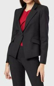 EUC EMPORIO ARMANI Italy women metallic black 2-button textured short blazer szM