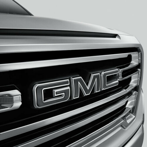 Front /& Rear GM # 84364356 Brand New 19-20 GMC Sierra Black GMC Emblems