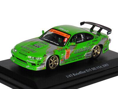 Nissan Silvia S15 Keioffice Grün Ab 1999 1//43 Dism Modell Auto mit oder ohne i..