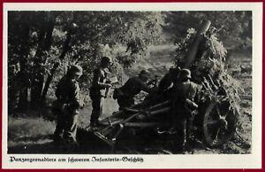 German WW 2 Third Reich postcard WEHRMACHT Panzergrenadiere  RPPC