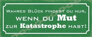 True Glück Tin Sign Shield Arched Metal Tin Sign 10 X 27 CM K1138