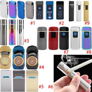 Electric Lighter Dual Cigarette Plasma Rechargeable Windproof Flameless USB A