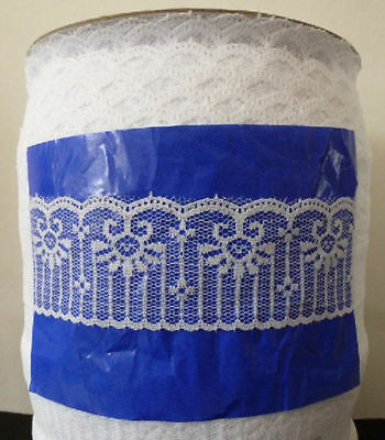 Wholesale 10-200yards white beautiful embroidery lace ribbon B1