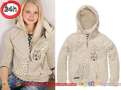 NEXT Pullover Sweatshirt mit Kapuze KÄTZCHEN für Mädchen 3 Jahre 98cm E-S
