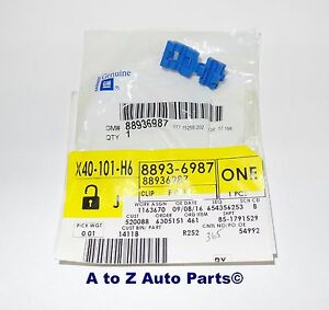 NEW 2002-2006 Chevrolet Avalanche Tailgate LATCH END ROD Blue CLIP OEM