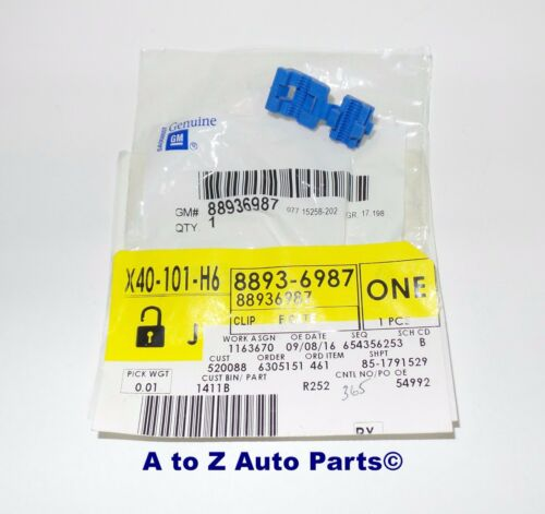 OEM NEW 2002-2006 Chevrolet Avalanche Tailgate LATCH END ROD Blue CLIP